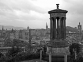 Edinburgh-(Calton-Hill-view)-monochrome