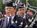 Kingussie-(Badenoch-Strathspey-Pipe-Band,-in-the-rain)